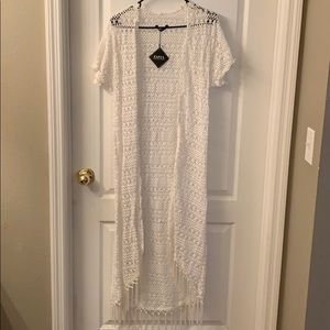 White cover up maxi